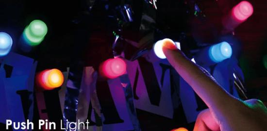 プッシュピンライト 画鋲 LEDライト1
