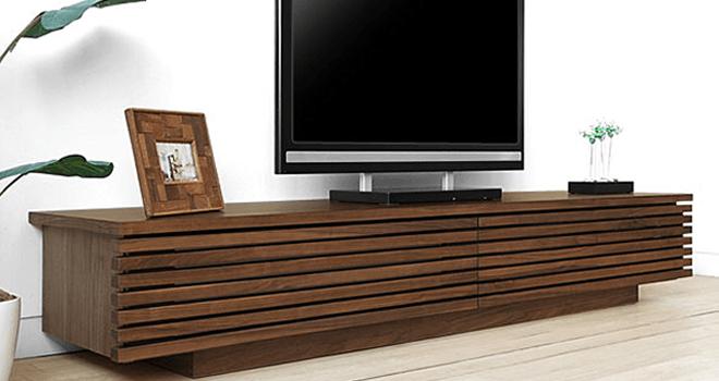 テレビボード ウォールナット 無垢材 GRID2