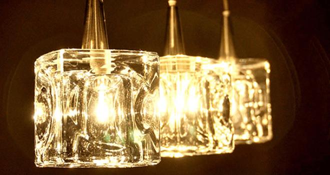 ガラスキューブ ハロゲン ペンダントライト2
