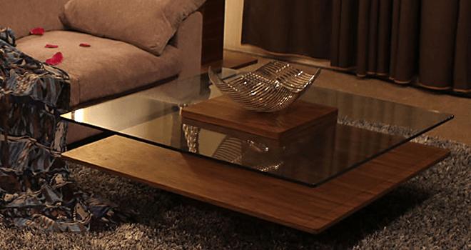 Karen - ガラスナイトテーブル2