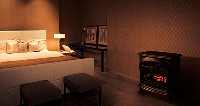 ディンプレックス ピアノストックブリッジ 暖炉2