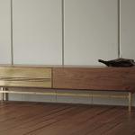 真鍮 ウォールナット テレビボード1