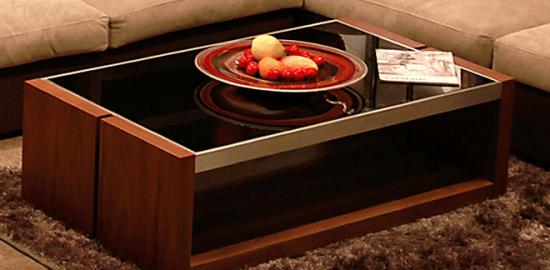 AICA - ガラスナイトテーブル1