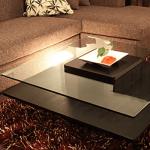 Karen - ガラスナイトテーブル1